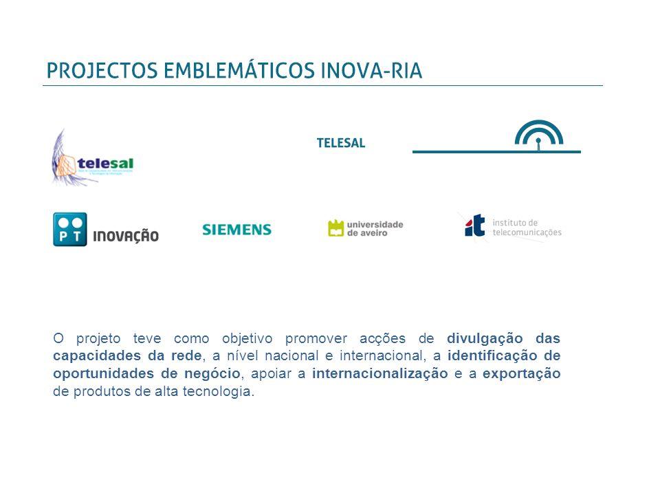 O projeto teve como objetivo promover acções de divulgação das capacidades da rede, a nível nacional e internacional, a identificação de oportunidades de negócio, apoiar a internacionalização e a exportação de produtos de alta tecnologia.