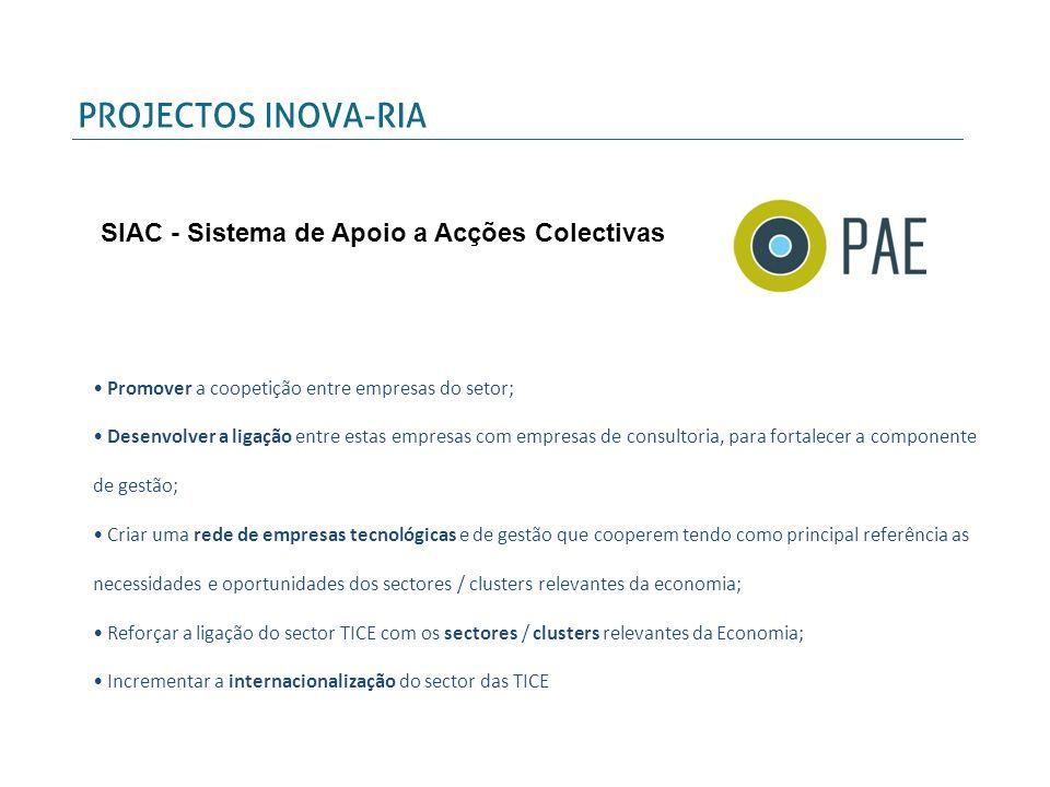Projetos, (candidatura), em cooperação com governos regionais, associações empresariais, parques de ciência e tecnologia e empresas de Espanha, Portugal e França, no âmbito do Programa Europeu SUDOE - Interreg IV B.