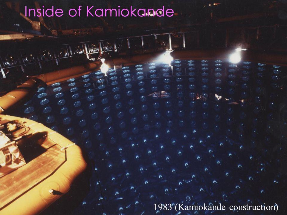 Inside of Kamiokande 1983 (Kamiokande construction)
