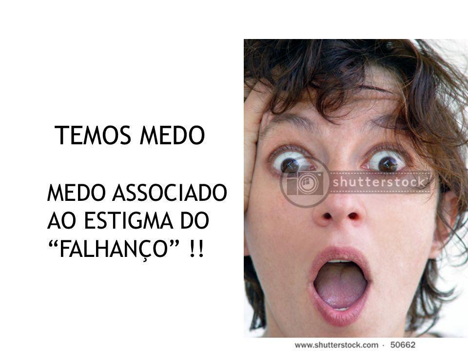 11 TEMOS MEDO MEDO ASSOCIADO AO ESTIGMA DO FALHANÇO !!