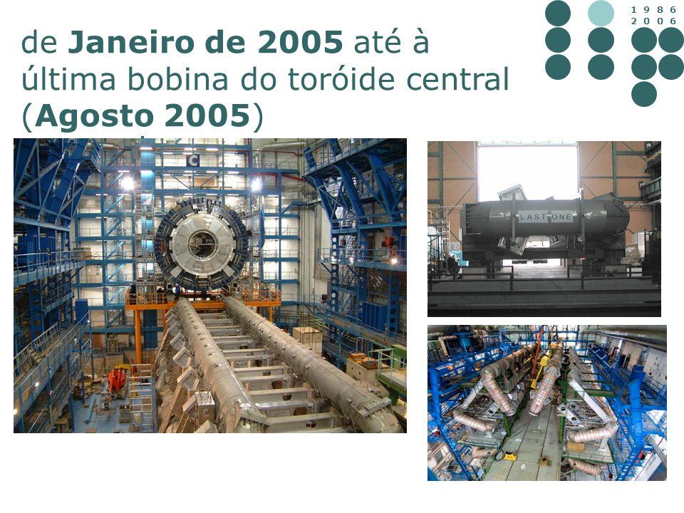 1 9 8 6 2 0 0 6 de Janeiro de 2005 até à última bobina do toróide central (Agosto 2005)