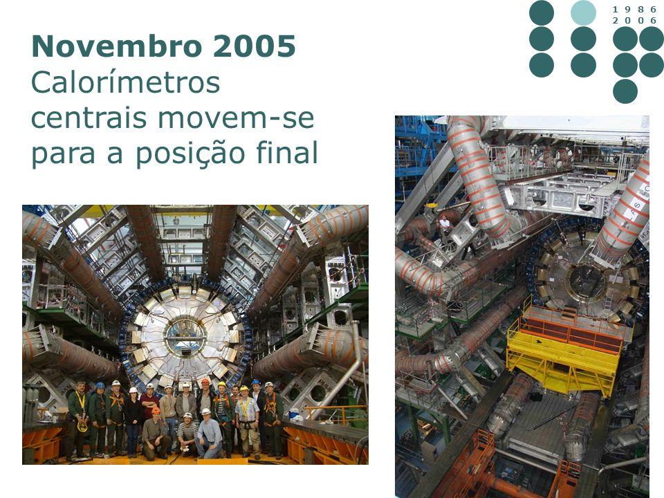 1 9 8 6 2 0 0 6 Novembro 2005 Calorímetros centrais movem-se para a posição final