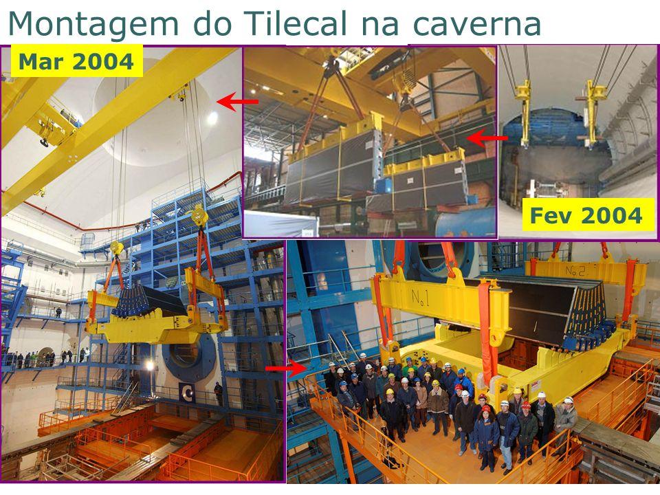1 9 8 6 2 0 0 6 Montagem do Tilecal na caverna Mar 2004 Fev 2004