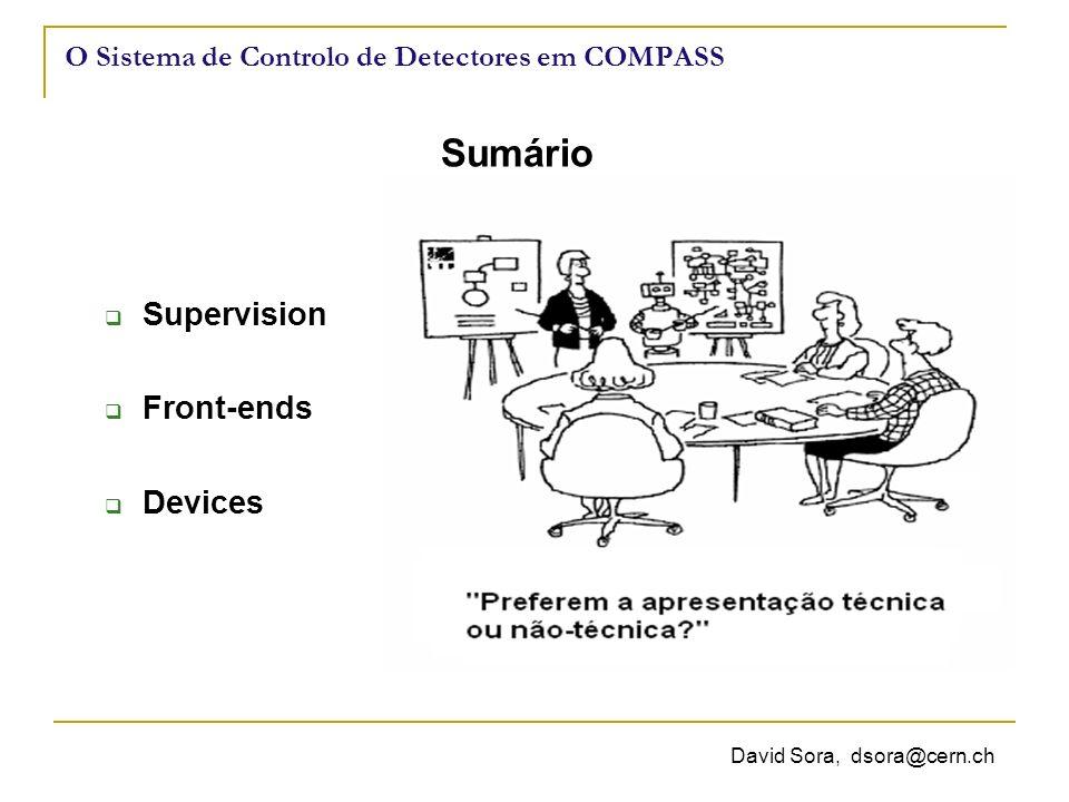 O Sistema de Controlo de Detectores em COMPASS