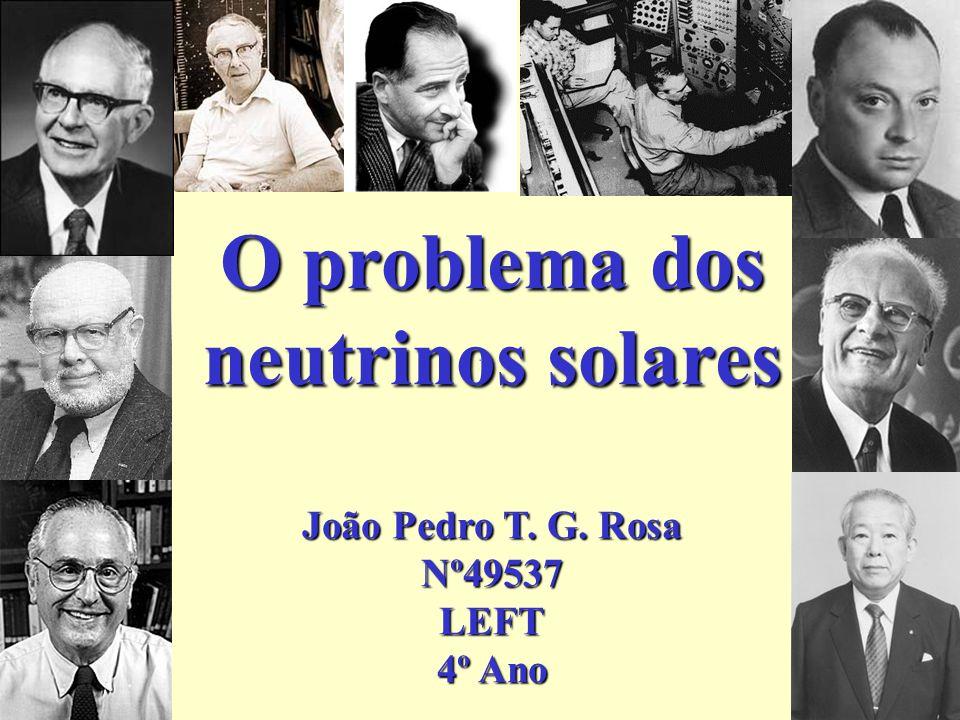 Pontecorvo e a oscilação de neutrinos Motivação: descoberta recente da oscilação Probabilidade de oscilação: Parâmetros: Na década de setenta, Pontecorvo e Bilensky derivaram a mesma expressão para o caso de dois neutrinos de Dirac (8 graus de liberdade); Violação CP - ângulo de Pontecorvo m 2 m 1 2 - m 2 2