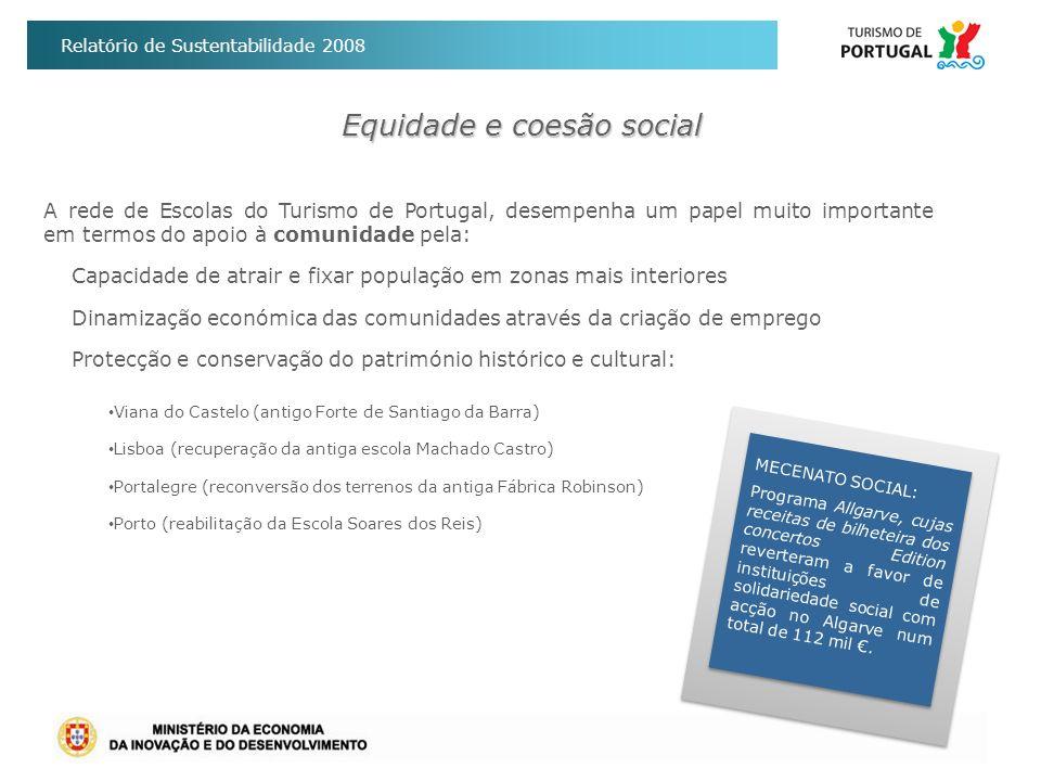 Relatório de Sustentabilidade 2008 Equidade e coesão social MECENATO SOCIAL: Programa Allgarve, cujas receitas de bilheteira dos concertos Edition rev