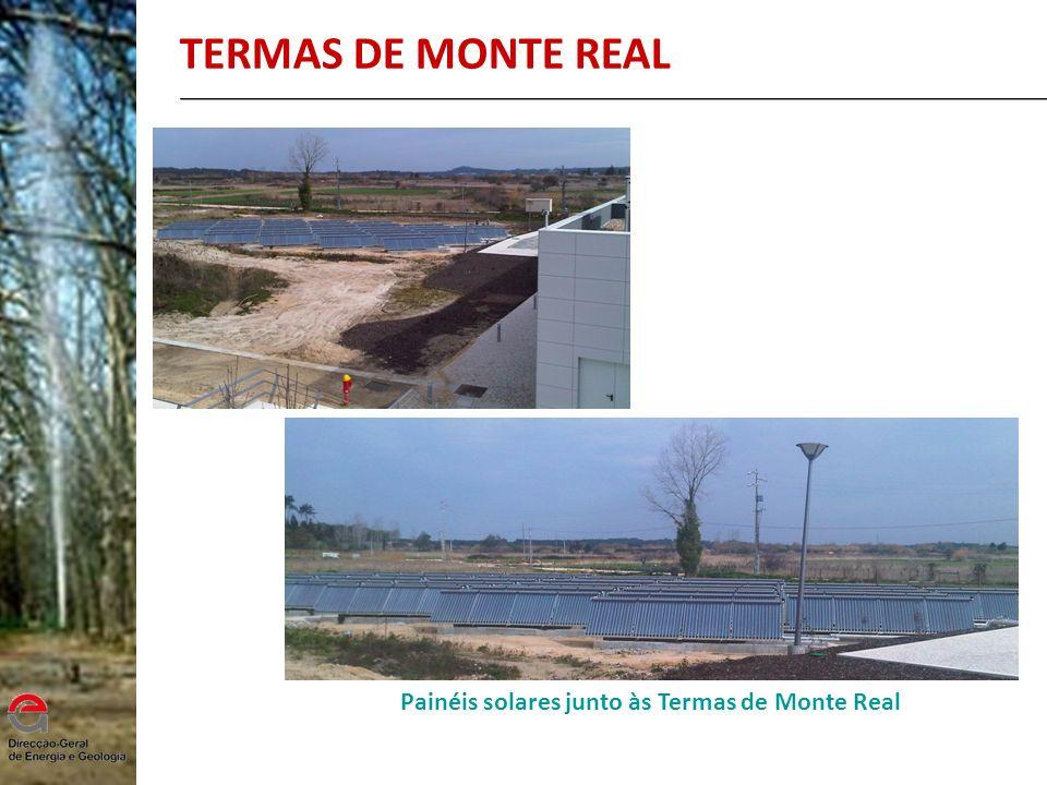 TERMAS DE MONTE REAL Painéis solares junto às Termas de Monte Real