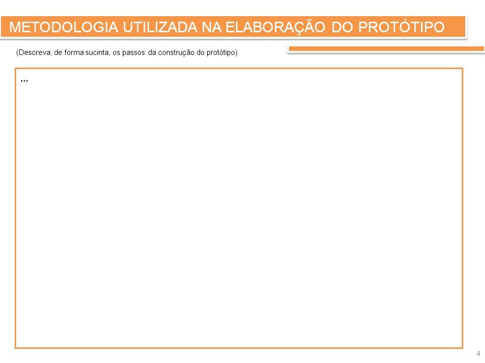 METODOLOGIA UTILIZADA NA ELABORAÇÃO DO PROTÓTIPO Fotografia (Registo fotográfico das diferentes fases do projecto) 5 Fotografia Fase do projecto