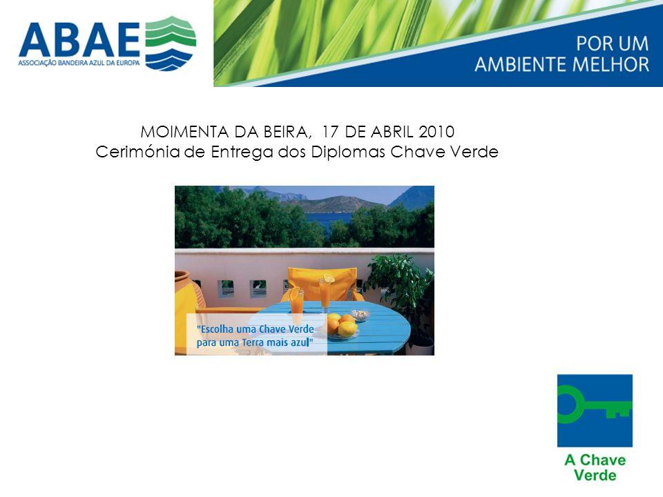 MOIMENTA DA BEIRA, 17 DE ABRIL 2010 Cerimónia de Entrega dos Diplomas Chave Verde