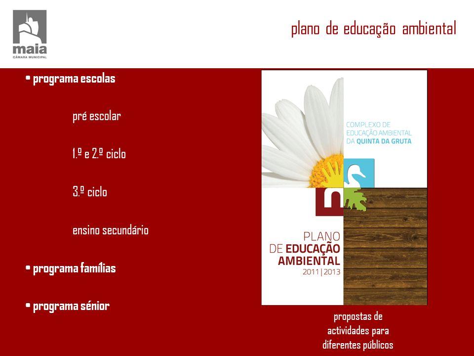 programa escolas pré escolar 1.º e 2.º ciclo 3.º ciclo ensino secundário programa famílias programa sénior propostas de actividades para diferentes pú
