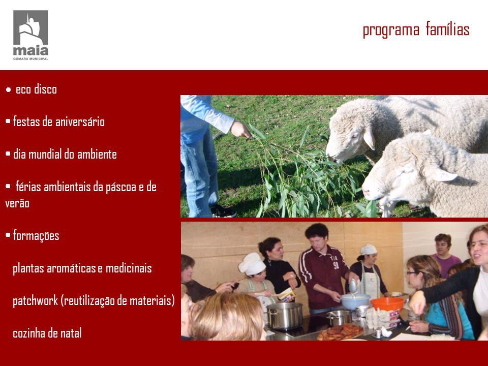 programa sénior cozinhando recordações chá da quinta hortas biológicas encontros com a leitura atelier de bijuteria/cortiça/tirela
