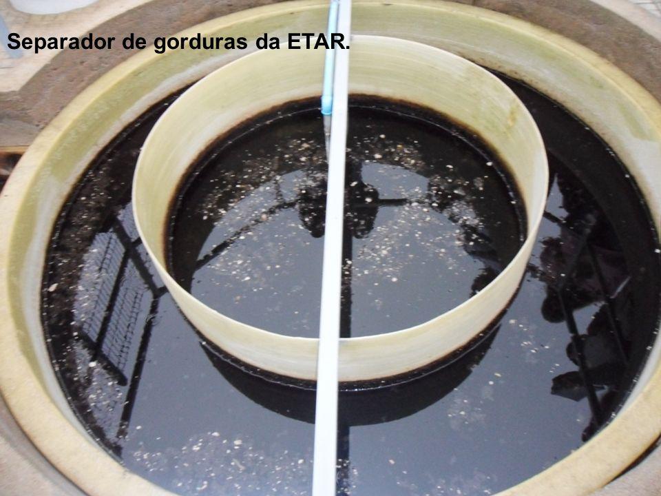 Separador de gorduras da ETAR.