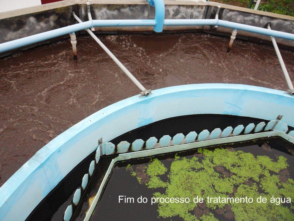 Fim do processo de tratamento de água