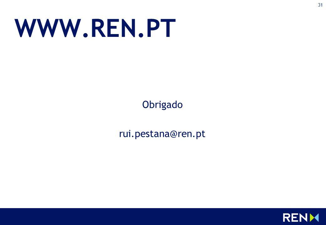 31 WWW.REN.PT Obrigado rui.pestana@ren.pt