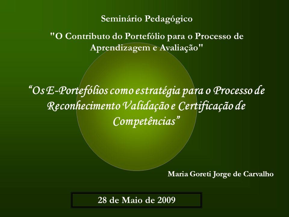 Resumo PALAVRAS CHAVE: Portefólios; Portefólios digitais; Processo de Reconhecimento Validação e Certificação de Competências; constitui o resumo de um estudo realizado no âmbito do Mestrado em Ciências da Educação – área de especialização em Tecnologias; tem em conta a minha experiência profissional enquanto Profissional de RVC num Centro Novas Oportunidades da região da grande Lisboa; contribui, na sua quase totalidade, para o re (afirmar) de que portefólio não é em si mesmo um fim, mas um processo que ajuda a desenvolver a aprendizagem;