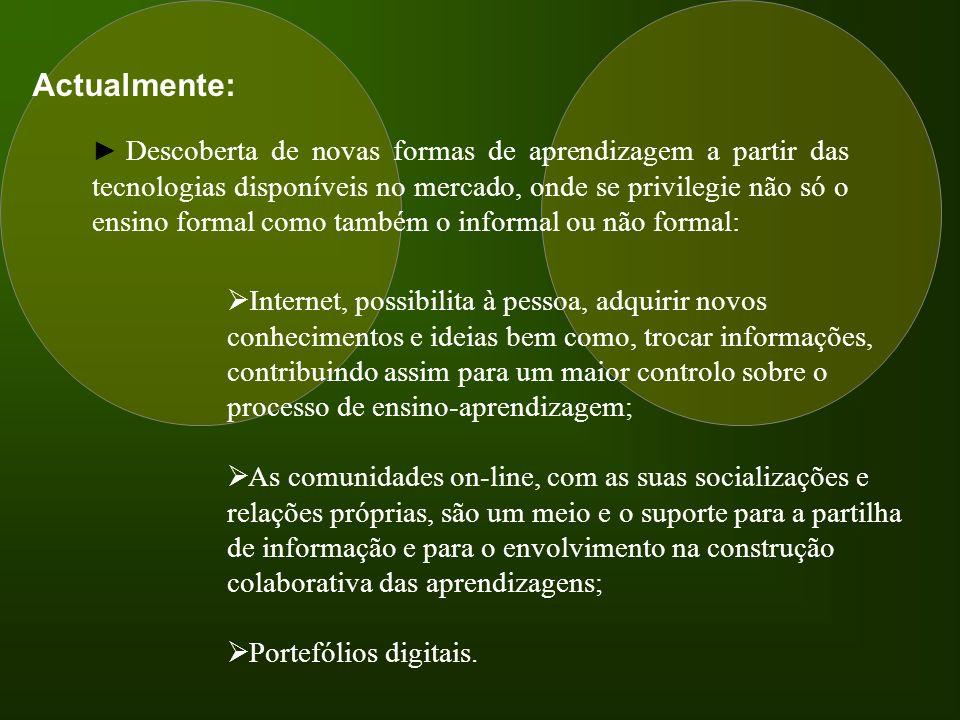 A utilização de Portefólios digitais poderá, para este tipo de oferta formativa, ser uma alternativa aos habituais portefólios em formato de papel.
