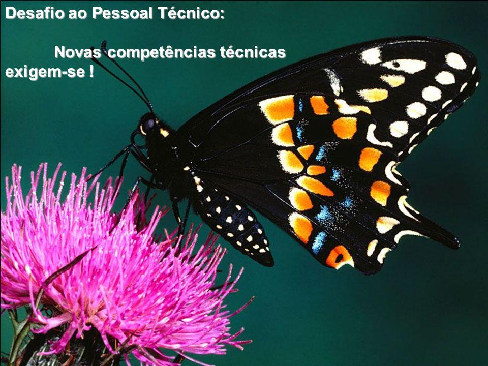 Desafio ao Pessoal Técnico: Novas competências técnicas exigem-se .
