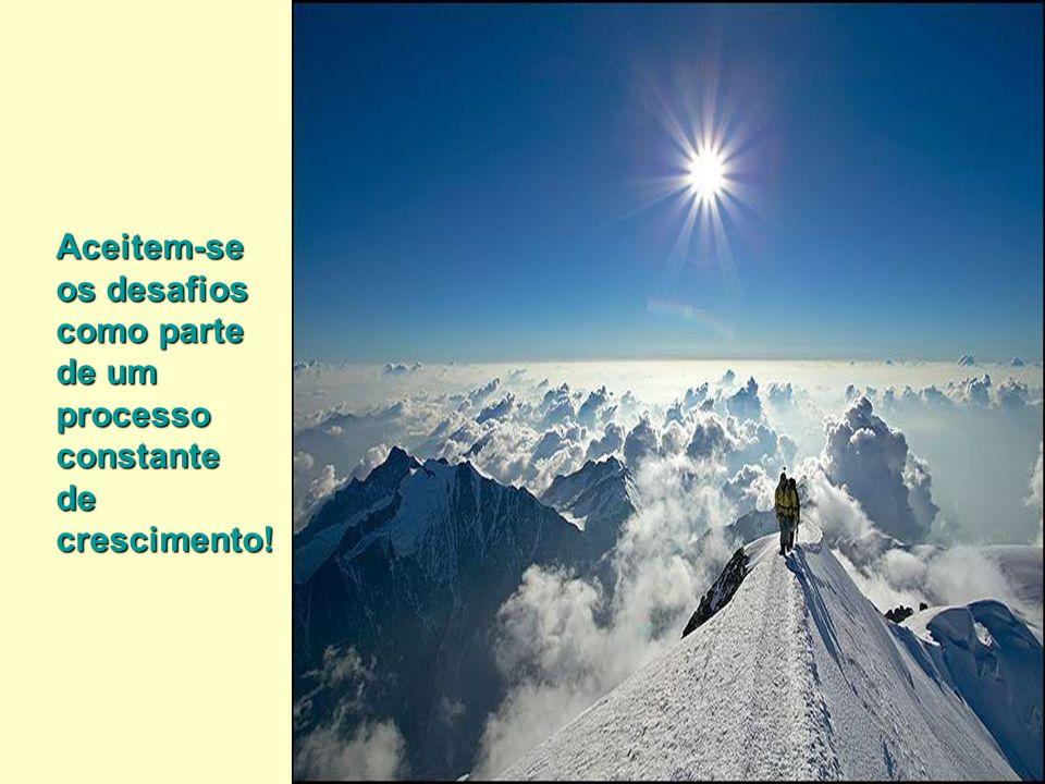 Aceitem-se os desafios como parte de um processo constante de crescimento!