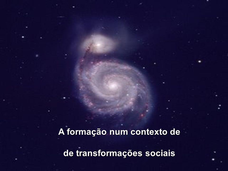 Transformações sociais Novas necessidades / Novas exigências Conhecimentos Prática