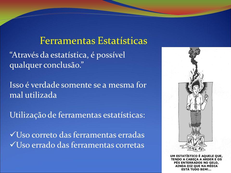 Ferramentas Estatísticas Através da estatística, é possível qualquer conclusão.