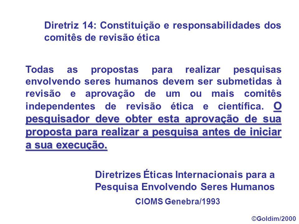 II.14 - Comitês de Ética em Pesquisa - CEP - colegiados interdisciplinares e independentes, com munus público, de caráter consultivo, deliberativo e educativo, criados para defender os interesses dos sujeitos da pesquisa em sua integridade e dignidade e para contribuir no desenvolvimento da pesquisa dentro de padrões éticos.
