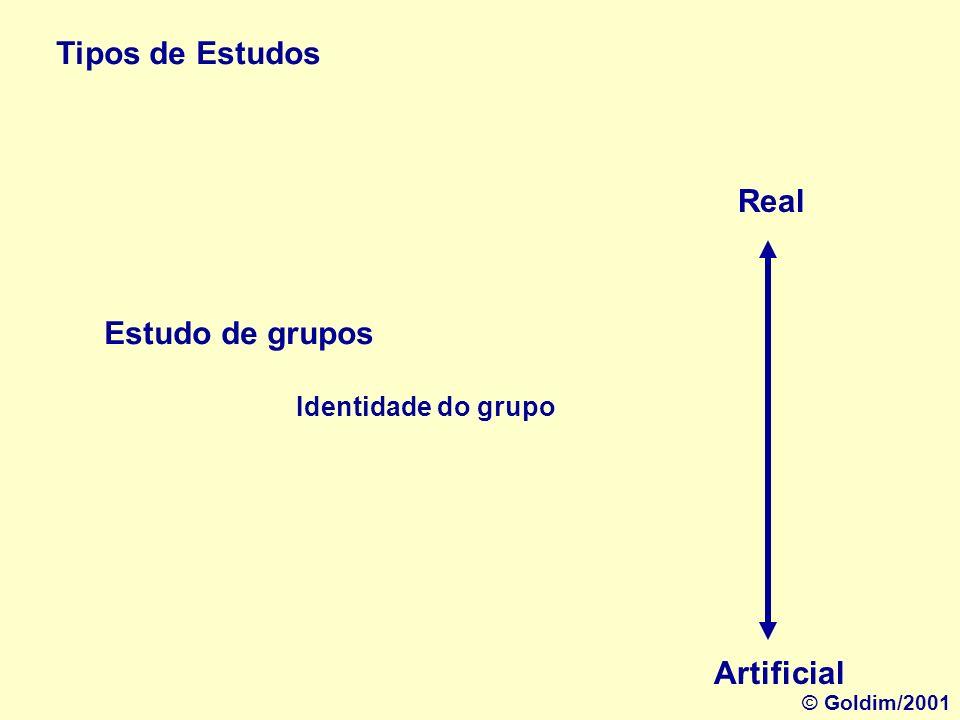 Tipos de Estudos Estudo de casos Real Artificial Semelhanças entre indivíduos © Goldim/2001