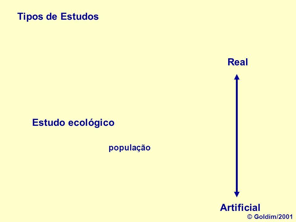Tipos de Estudos Estudo de grupos Real Artificial Identidade do grupo © Goldim/2001