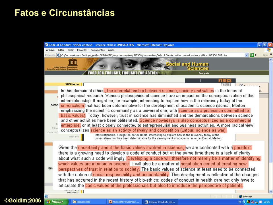 Fatos e Circunstâncias ©Goldim;2006