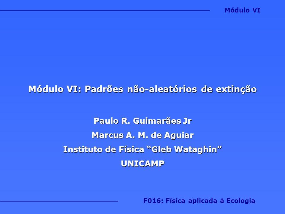 Módulo VI: Padrões não-aleatórios de extinção Paulo R. Guimarães Jr Marcus A. M. de Aguiar Instituto de Física Gleb Wataghin UNICAMP F016: Física apli