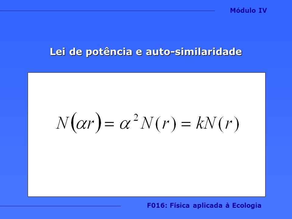 Lei de potência e auto-similaridade Módulo IV F016: Física aplicada à Ecologia