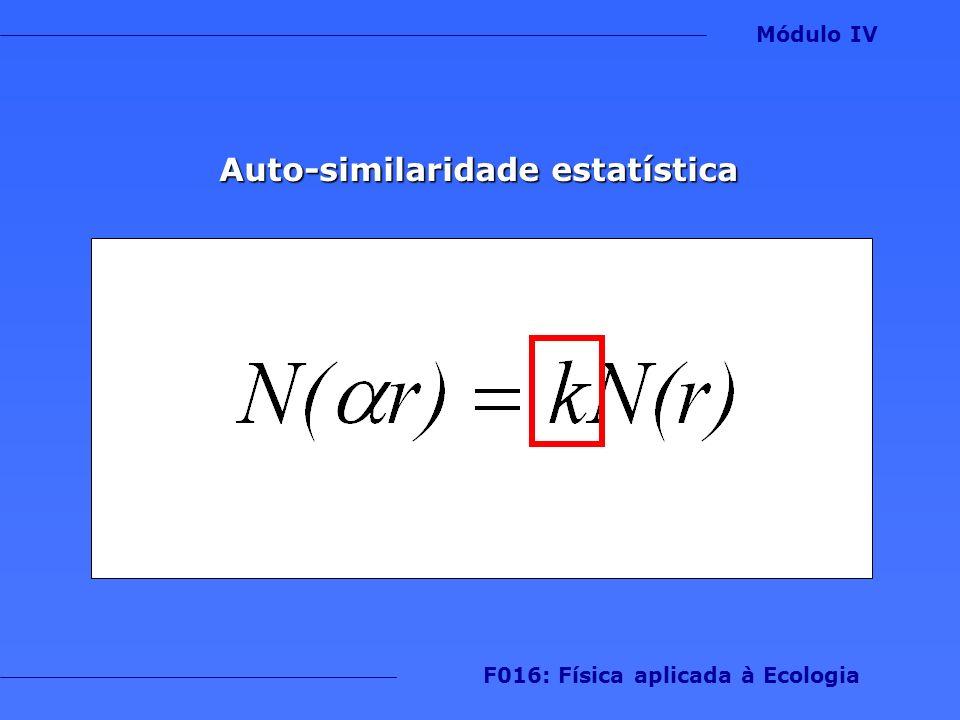 Auto-similaridade estatística Módulo IV F016: Física aplicada à Ecologia
