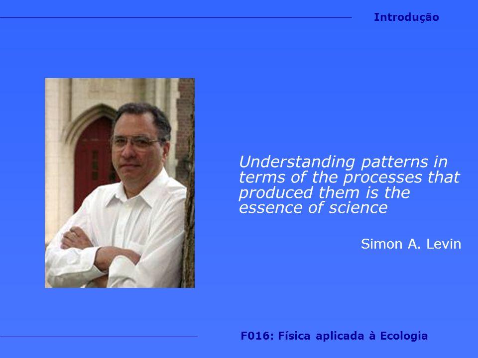 Ao final deste curso, você deve ser capaz de: 1.Desenvolver um estudo simples envolvendo a aplicação de um dos métodos estudados em um sistema ecológico Introdução F016: Física aplicada à Ecologia