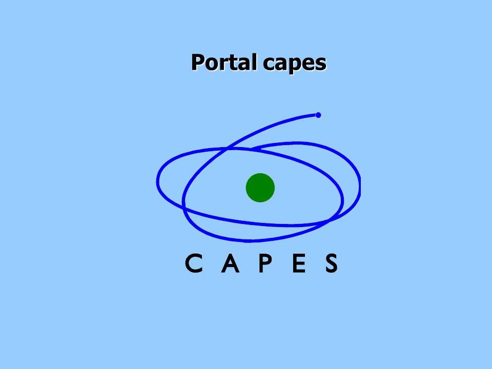 PORTAL CAPES Página principal 1 A opção pesquisa por título, permite pesquisar por título de periódicas em todas as bases do portal 1 2 2 A opção pesquisa por assunto, permite fazer uma pesquisa Por periódicos de uma área específica em todas as bases do portal Clique aqui para visualizar as Bases com texto completo