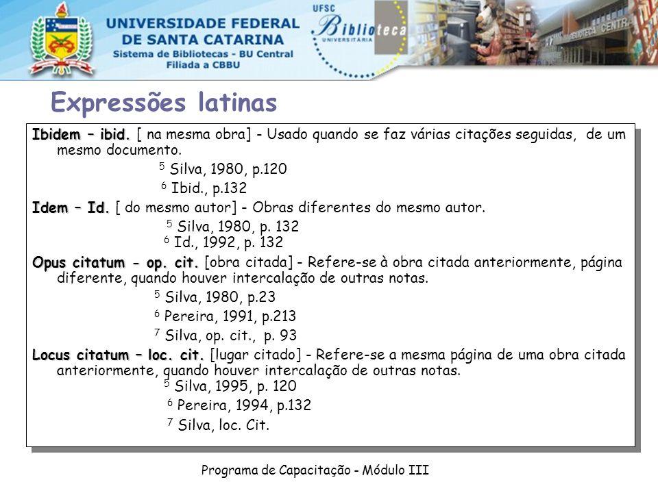 Programa de Capacitação - Módulo III Ibidem – ibid.