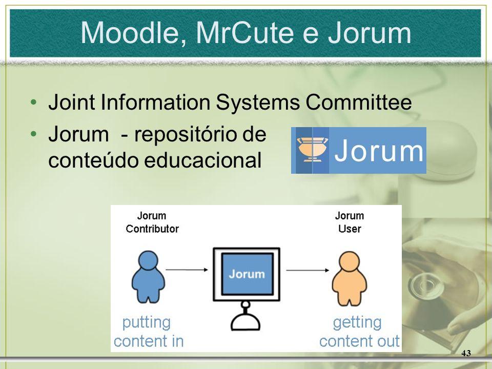 43 Moodle, MrCute e Jorum Joint Information Systems Committee Jorum - repositório de conteúdo educacional