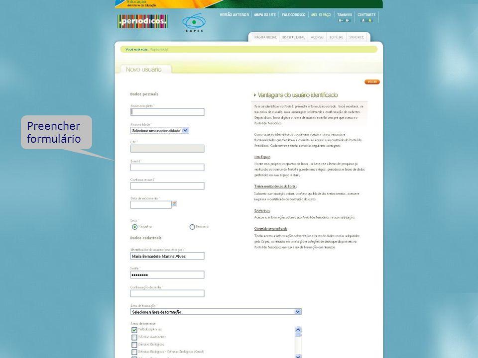 Preencher formulário