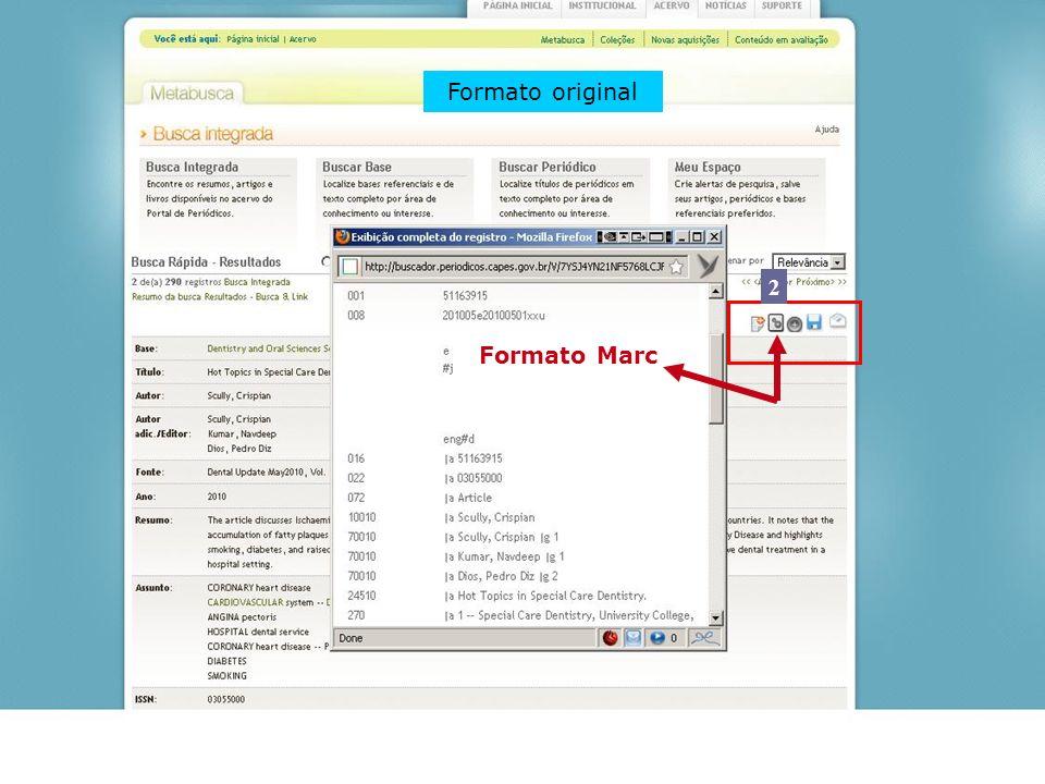 Formato Marc Formato original 2