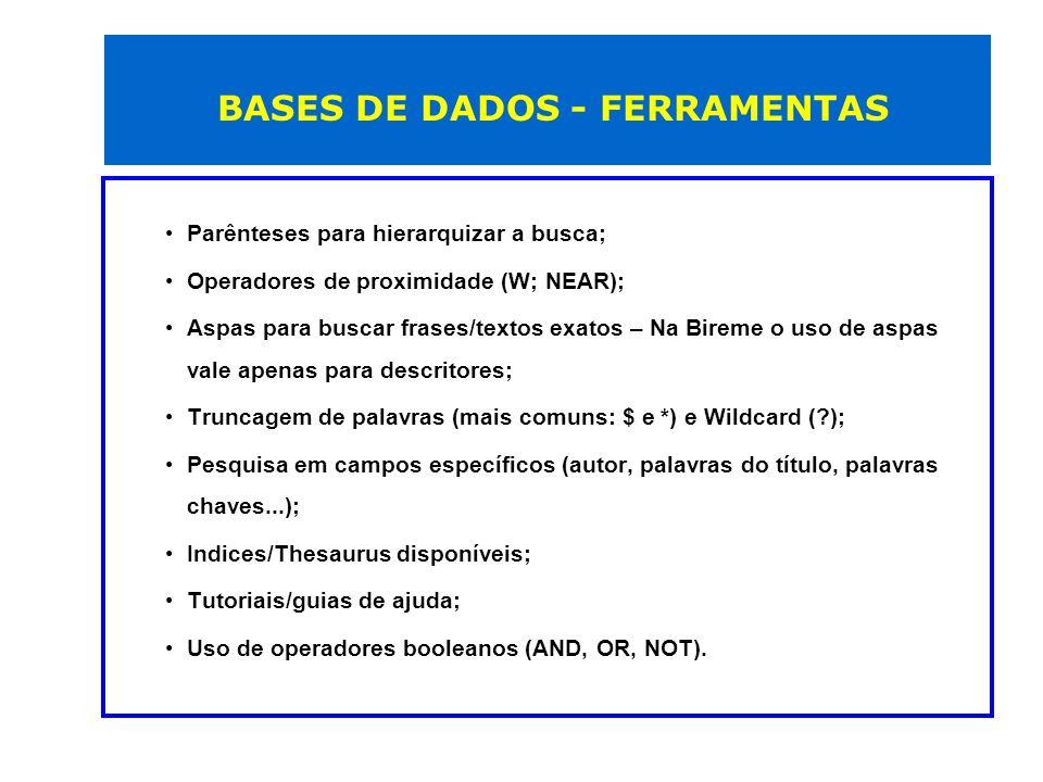 Busca Base de dados por Título - resultado Lista de bases de dados contendo a palavra indicada 2 3 1 1 – Informações sobre a base de dados 2 – Inserir em Meu Espaço 3 – Pesquisa na base de dados usando a interface da CAPES 4- Ir para a interface de pesquisa do editor 4 Tutorial - http://novo.periodicos.capes.gov.br/images/documents/Tutorial_Buscar_Base.htmhttp://novo.periodicos.capes.gov.br/images/documents/Tutorial_Buscar_Base.htm