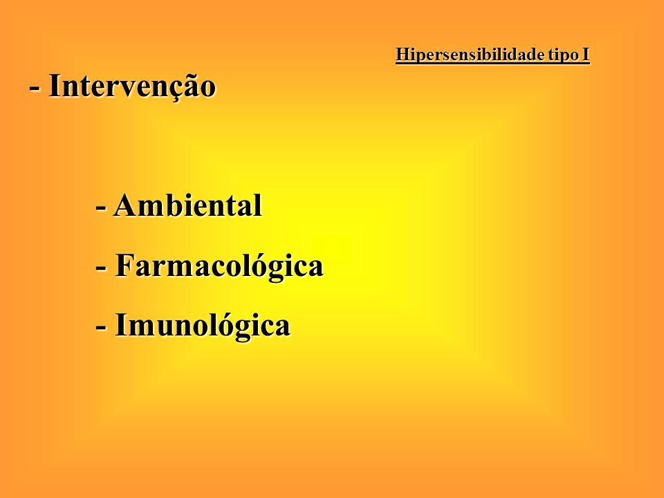 - Diagnóstico Hipersensibilidade tipo I RAST