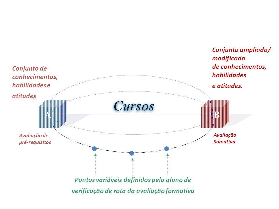 Conjunto de conhecimentos, habilidades e atitudes Conjunto ampliado/ modificado de conhecimentos, habilidades e atitudes. Avaliação de pré-requisitos