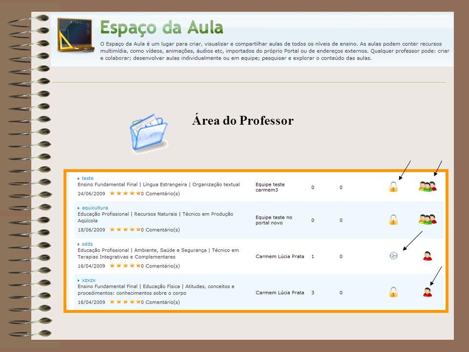 Área do Professor