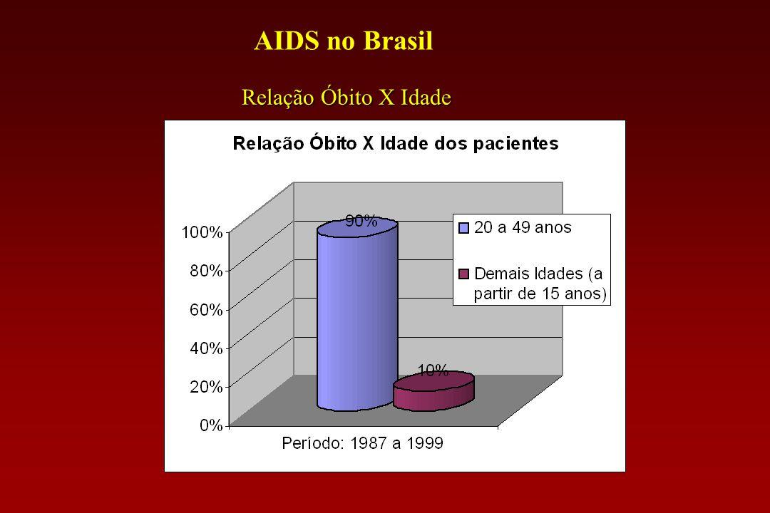 AIDS no Brasil Boletins Epidemiológicos - Brasil Período: 1987 a 1999 113.000 óbitos em indivíduos com 15 anos ou mais113.000 óbitos em indivíduos com