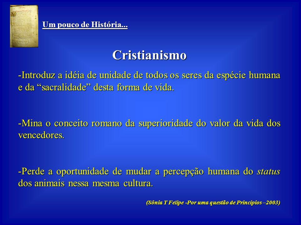 Um pouco de História... Um pouco de História... Cristianismo Nasce na mesma cultura de poder militar hierárquico do império romano, de domínio do mais