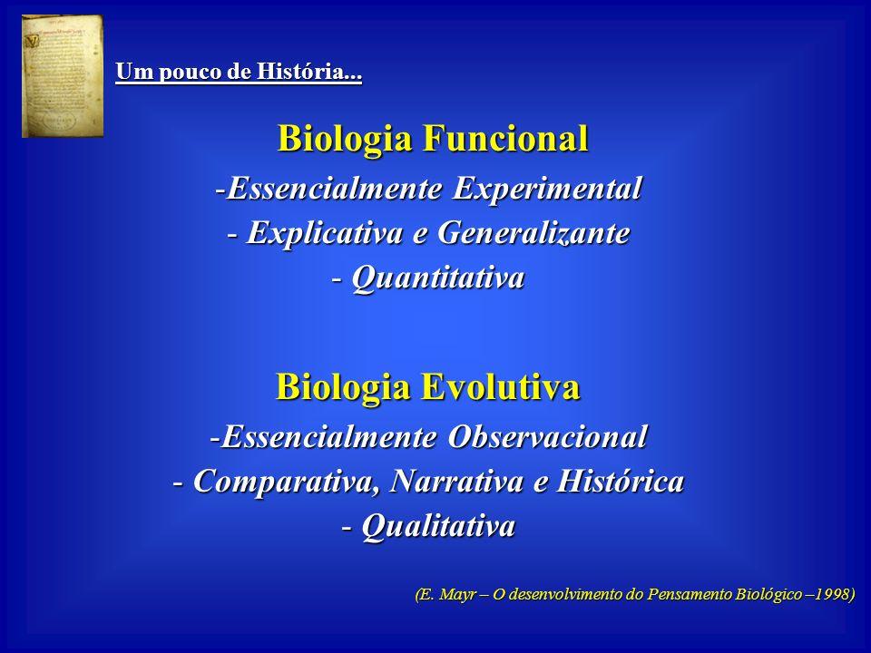 Um pouco de História... Um pouco de História... A História da Biologia Biologia Laboratorial (de Hospital) Biologia Laboratorial (de Hospital) Biologi