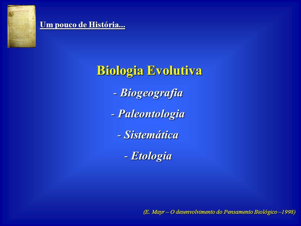Um pouco de História... Um pouco de História... Biologia Funcional Biologia Funcional - Anatomia -Fisiologia - Embriologia - Genética - Microbiologia