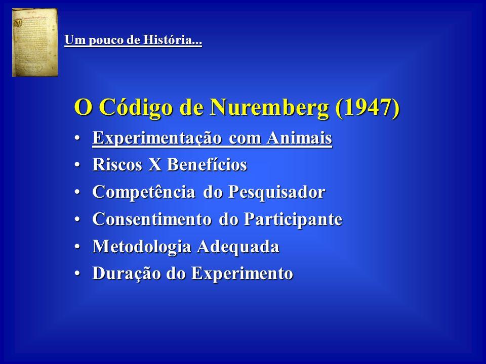 Um pouco de História... Um pouco de História... Food, Drug, and Cosmetics Act (EUA- 1938) Testes de efeitos adversosTestes de efeitos adversos