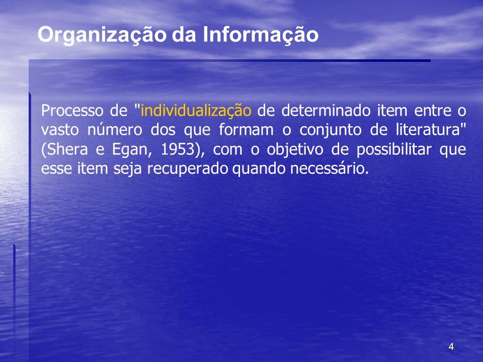 4 Organização da Informação Processo de
