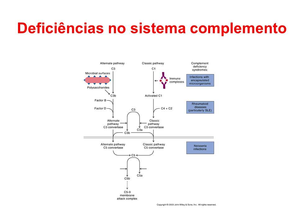 Deficiências no sistema complemento