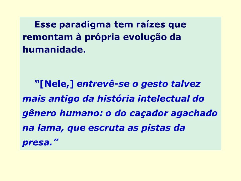 Esse paradigma tem raízes que remontam à própria evolução da humanidade. [Nele,] entrevê-se o gesto talvez mais antigo da história intelectual do gêne