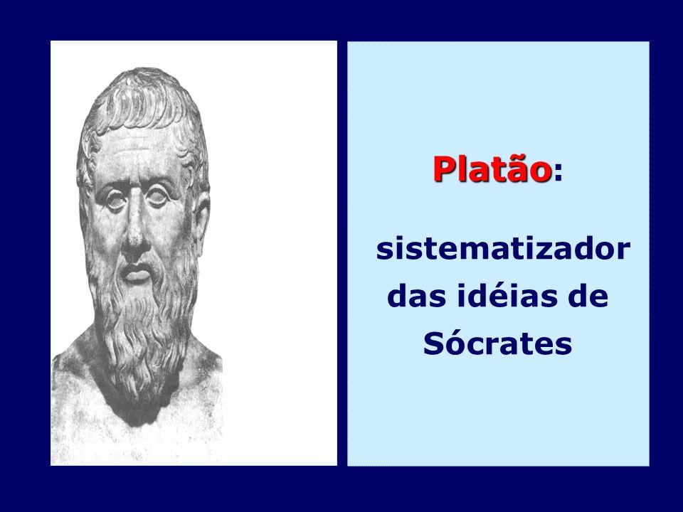 Platão Platão : sistematizador das idéias de Sócrates